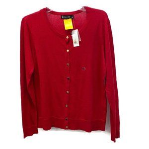 New York & Company Red Knit Cardigan